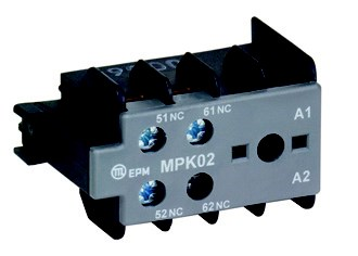 MPK20 auxiliary contact block